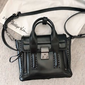 3.1 Philip Lim All Black Mini Satchel Rare Limited